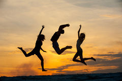 Gente en el salto imágenes de archivo libres de regalías
