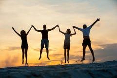 Gente en el salto Foto de archivo libre de regalías
