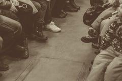 Gente en el subterráneo Fotografía de archivo libre de regalías