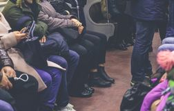 Gente en el subterráneo Imagen de archivo libre de regalías