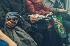 Gente en el subterráneo en Rusia Fotografía de archivo