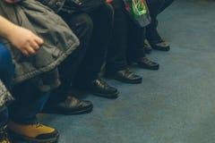 Gente en el subterráneo en Rusia Fotografía de archivo libre de regalías