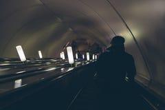Gente en el subterráneo en St Petersburg Imagen de archivo libre de regalías