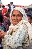 Gente en el terraplén del río de Ganga, Har Ki Pauri Har Ki Pauri es un ghat famoso en los bancos del Ganges en Haridwar Fotos de archivo libres de regalías