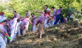 gente en Haro Wine Festival Imagenes de archivo
