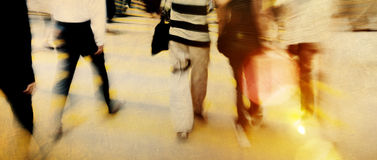 Gente en Hong Kong Cross Walking Concept fotos de archivo