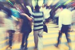Gente en Hong Kong Cross Walking Concept foto de archivo libre de regalías