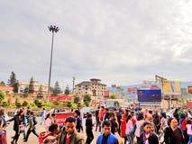 Gente en Kohima, Nagaland foto de archivo