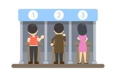 Gente en la cabina de votación libre illustration