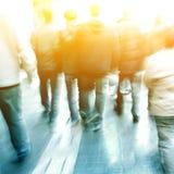 Gente en la calle Imagen de archivo