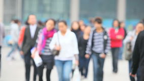Gente en la calle de Shangai metrajes