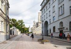 Gente en la calle de Zabelina en la ciudad de Moscú Imagenes de archivo