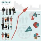 Gente en la ciudad stock de ilustración