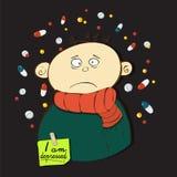 Gente en la depresión Foto de archivo libre de regalías