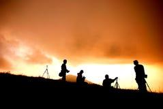 Gente en la montaña Imagen de archivo libre de regalías