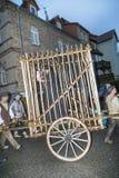Gente en la procesión de los granjeros para recordar el revoluti del granjero Imágenes de archivo libres de regalías