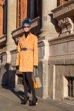 Gente en la semana 2016 de la moda de Milan Men Imagen de archivo