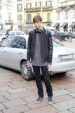 Gente en la semana de la moda de Milano Fotos de archivo libres de regalías