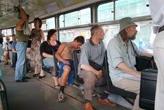 Gente en la tranvía Fotografía de archivo libre de regalías