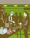 Gente en la venta de compra del mercado Imagen de archivo libre de regalías
