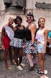 Gente en las calles de Rio de Janeiro durante carnaval Imagen de archivo libre de regalías