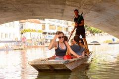 Gente en los canales de Cambridge, Inglaterra, Reino Unido Imagen de archivo