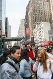 Gente en Manhattan Foto de archivo