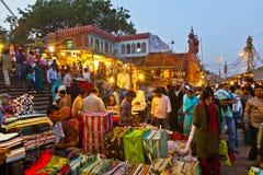 Gente en Meena Bazaar Market Fotografía de archivo libre de regalías