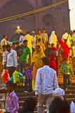 Gente en Meena Bazaar Market Imagen de archivo