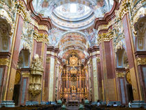 Gente en Melk Abbey Church, Austria Foto de archivo