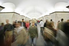 Gente en metro Imagen de archivo