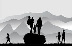 Gente en montañas Imagen de archivo libre de regalías