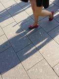 Gente en movimiento Imagen de archivo libre de regalías