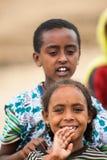 Gente en OMO, ETIOPÍA Imagen de archivo libre de regalías