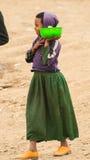 Gente en OMO, ETIOPÍA Foto de archivo