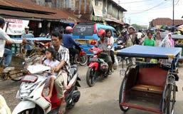Gente en Palembang Imágenes de archivo libres de regalías