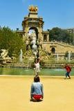 Gente en Parc de la Ciutadella en Barcelona, España Imágenes de archivo libres de regalías