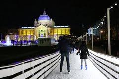 Gente en parque del hielo Fotos de archivo