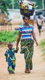 Gente en PORTO-NOVO, BENIN Fotografía de archivo