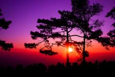 Gente en puesta del sol Foto de archivo libre de regalías