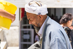 Gente en SAMARKAND, UZBEKISTÁN Foto de archivo