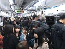 Gente en Seul subterráneo Fotografía de archivo