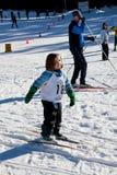 Gente en Ski Field Fotos de archivo libres de regalías