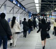 Gente en subterráneo foto de archivo libre de regalías