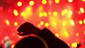 Gente en un concierto de rock almacen de metraje de vídeo