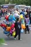 Gente en un holida de la ciudad Foto de archivo
