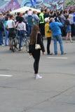 Gente en un holida de la ciudad Imagenes de archivo
