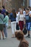Gente en un holida de la ciudad Imágenes de archivo libres de regalías