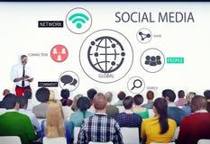 Gente en un seminario sobre medios sociales Fotografía de archivo