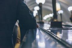 Gente en un subterráneo en Rusia Fotos de archivo